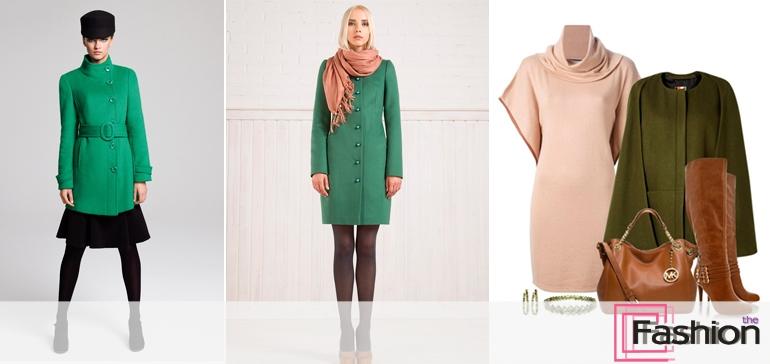 Сочетание платья и пальто