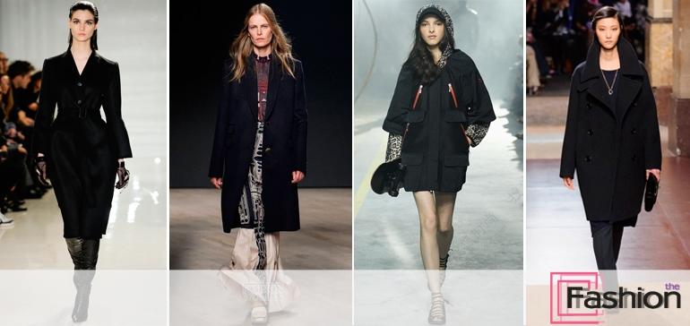 Как и с чем носить черное пальто