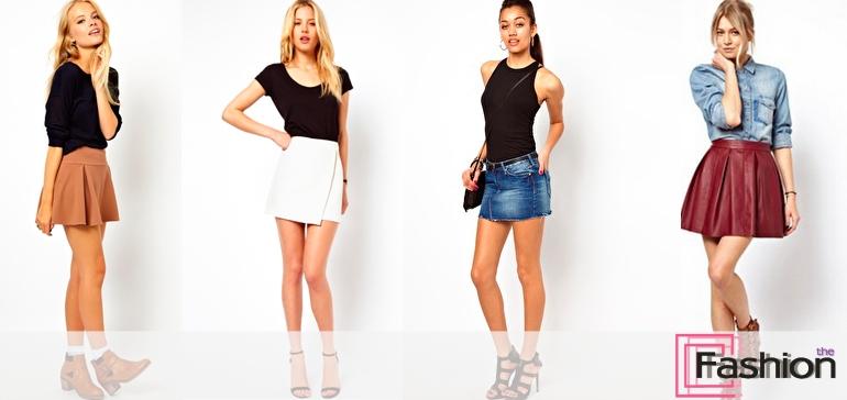 Как и с чем носить мини-юбки
