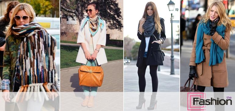 Подбираем шарфы, палантины и платки к пальто