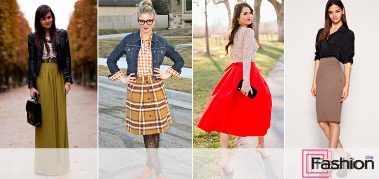 С чем носить юбку с завышенной талией