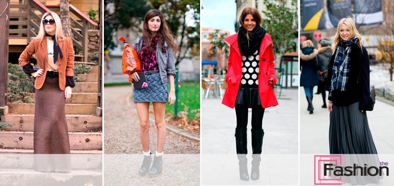 С чем носить юбку зимой