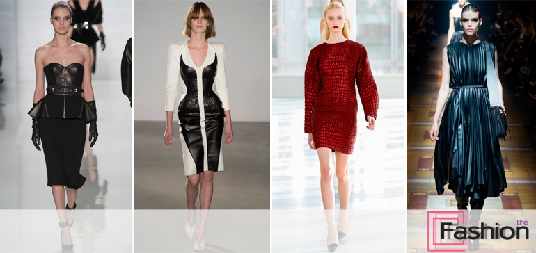 Мода на кожаные платья