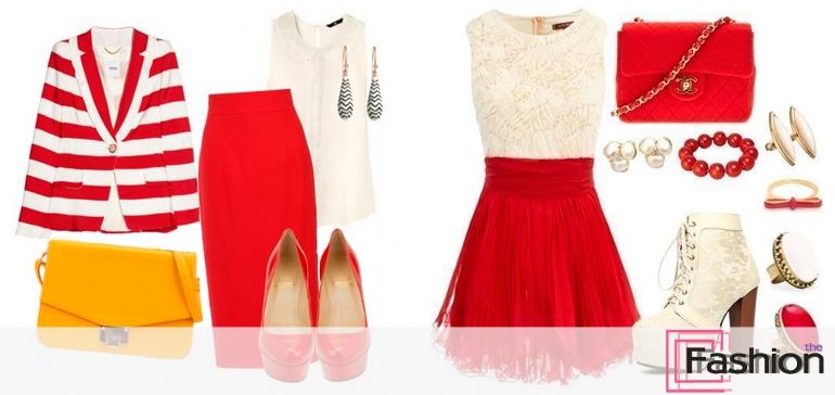 Модные идеи: с чем носить красную юбку?