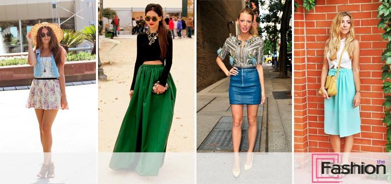 С чем носить цветные юбки летом