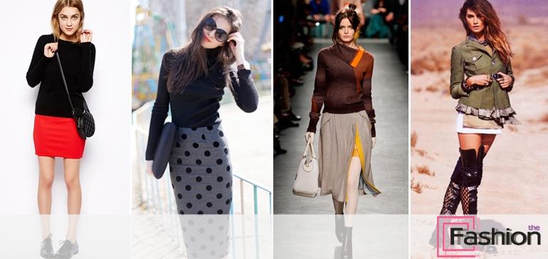 С чем носить трикотажную юбку: образы в разных стилях
