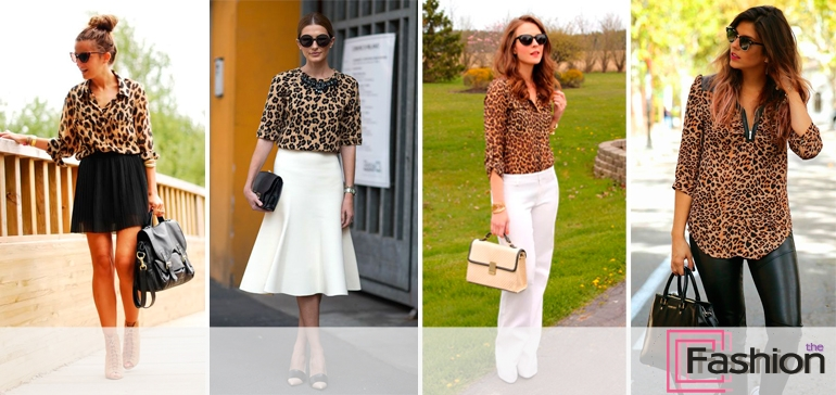Юбка леопардовая с блузкой леопардовой