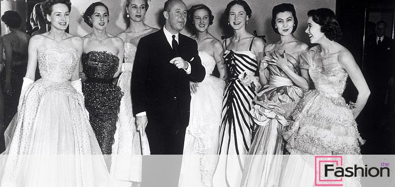 The famous French fashion designer Christian Dior (1905-1957) with his...