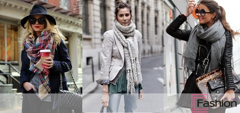 Как красиво завязать платок (шарф) на шее на пальто разными способами | 364x770