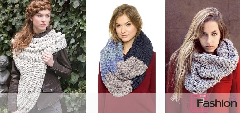 шарф хомут как носить