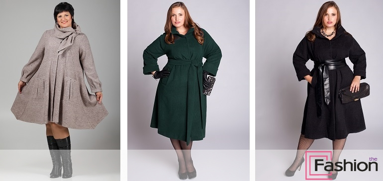модели пальто для полных женщин