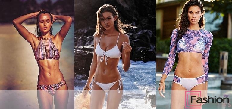 пляжная фотосессия от Victoria's Secret
