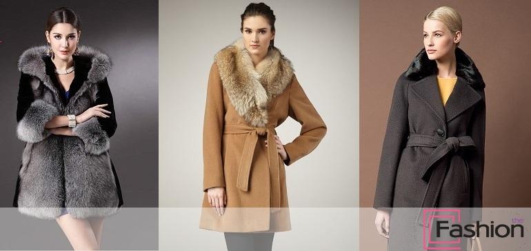 пальто женское с мехом