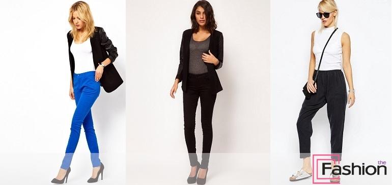 Зауженные женские брюки