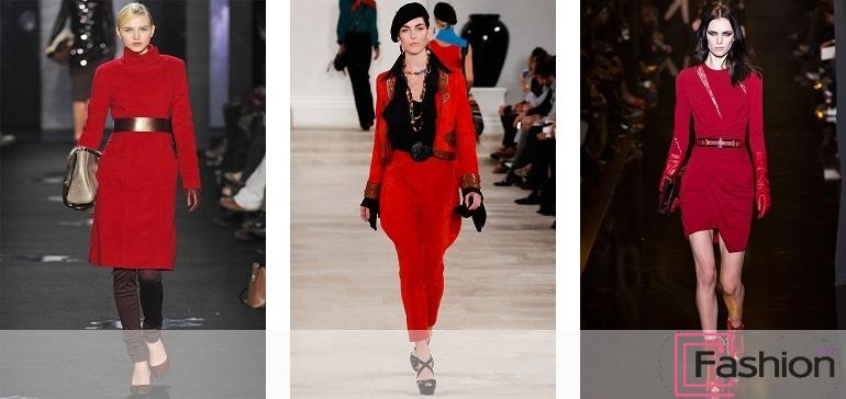 модный красный цвет