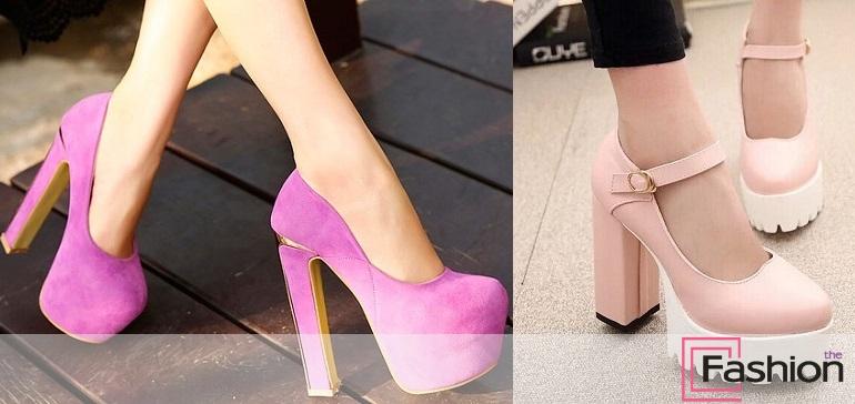Туфли на платформе и толстом каблуке - модная обувь 793fb28a1a7
