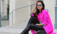 С носить розовое пальто - советы стилистов