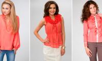 С чем носить коралловую блузку