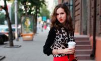 С чем носить леопардовую блузку