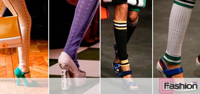 босоножки с носками фото
