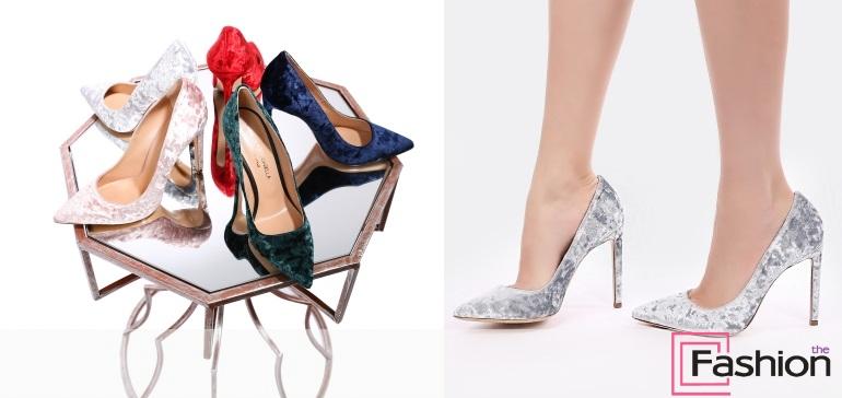 бархатные туфли лодочки