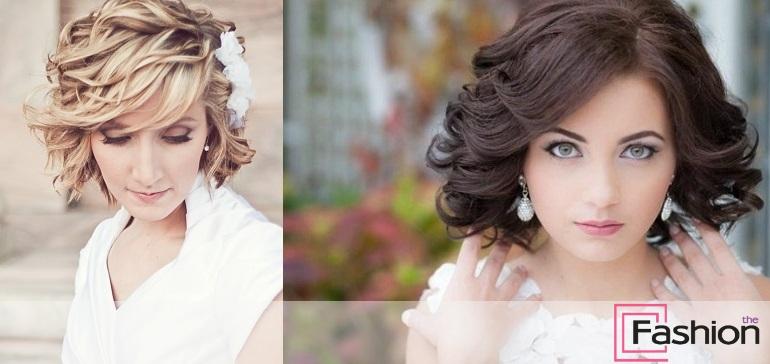 Свадебные прически на короткие волосы: фото с аксессуарами и без