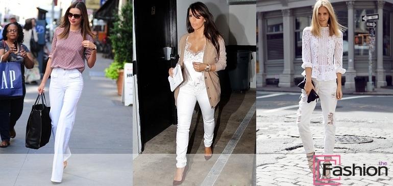 С чем носить белые джинсы? Советы для сомневающихся модниц