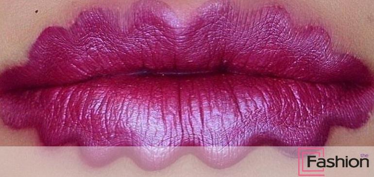 Волнистые губы: фото стильных решений
